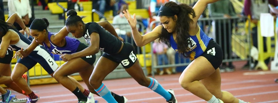 Picture from the Girls State Indoor T&F Championships 2016.