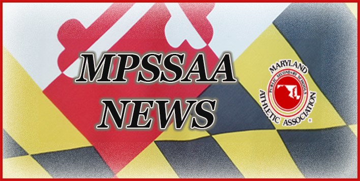 MPSSAA News slide with Maryland flag in background and MPSSAA logo.