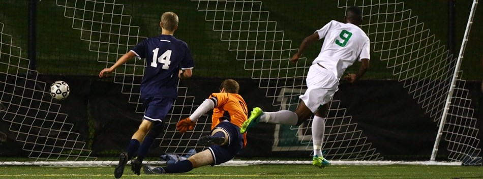 A Walter Johnson HS male scores a goal on Bel Air HS at the 2016 State Boys Soccer Finals.