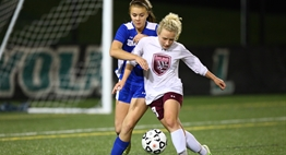 Girls soccer players from Broadneck and Leonardtown battle to gain control of the ball in the 2015 State Finals.