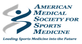 America Medical Society for Sports Medicine logo.