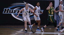 Amanda Merrell plays in a recent home basketball game against Great Mills.