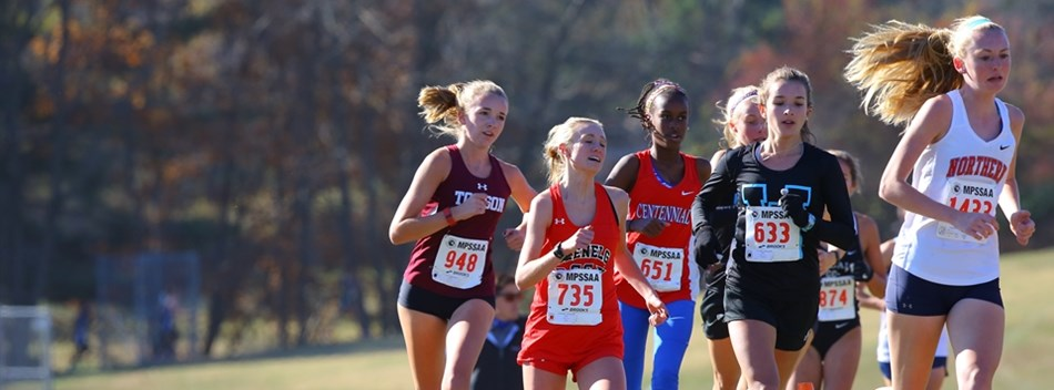 A picture from the 2016 Girls State Championship Cross Country Meet.