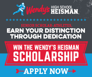 Wendy's High School Heisman banner ad with hyperlink to that website.