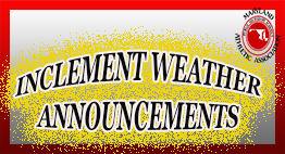MPSSAA Inclement Weather Announcements slide.